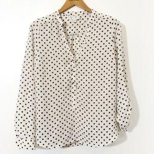 Lauren Conrad Long Sleeve Polka Dot Button Down
